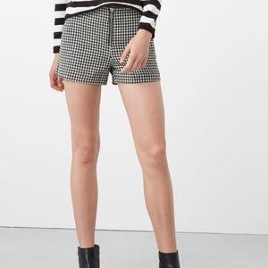 Mango mng like new Houndstooth gingham shorts